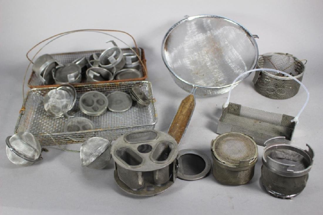 Lot of Cleaning and Screening Pans & Trays
