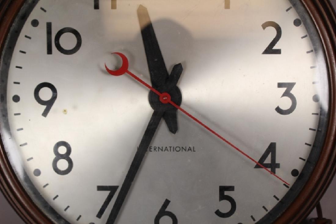 Vintage Cast Metal International Wall Clock - 2
