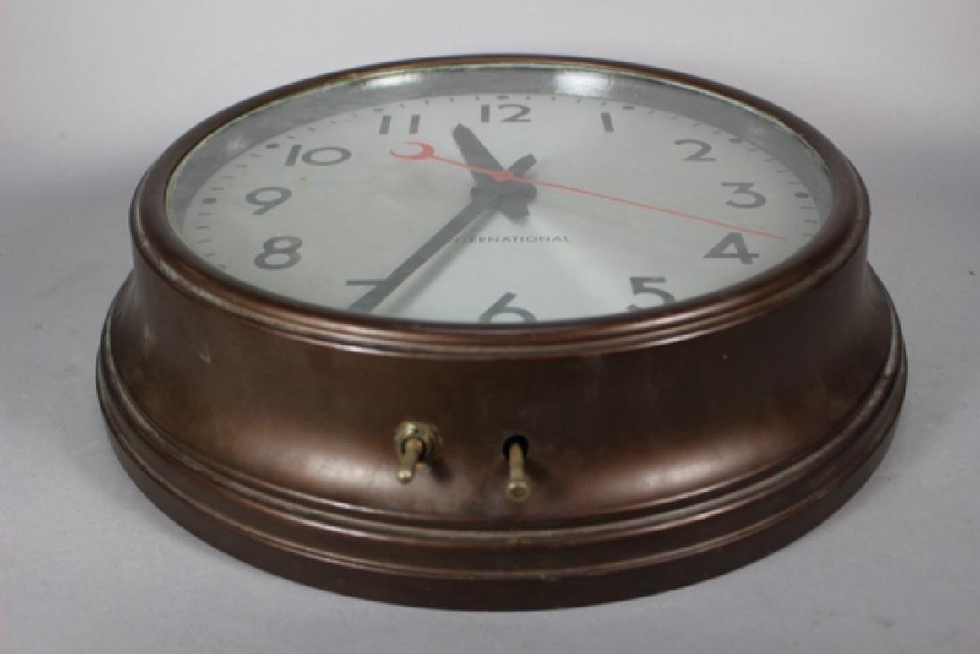 Vintage Cast Metal International Wall Clock - 3