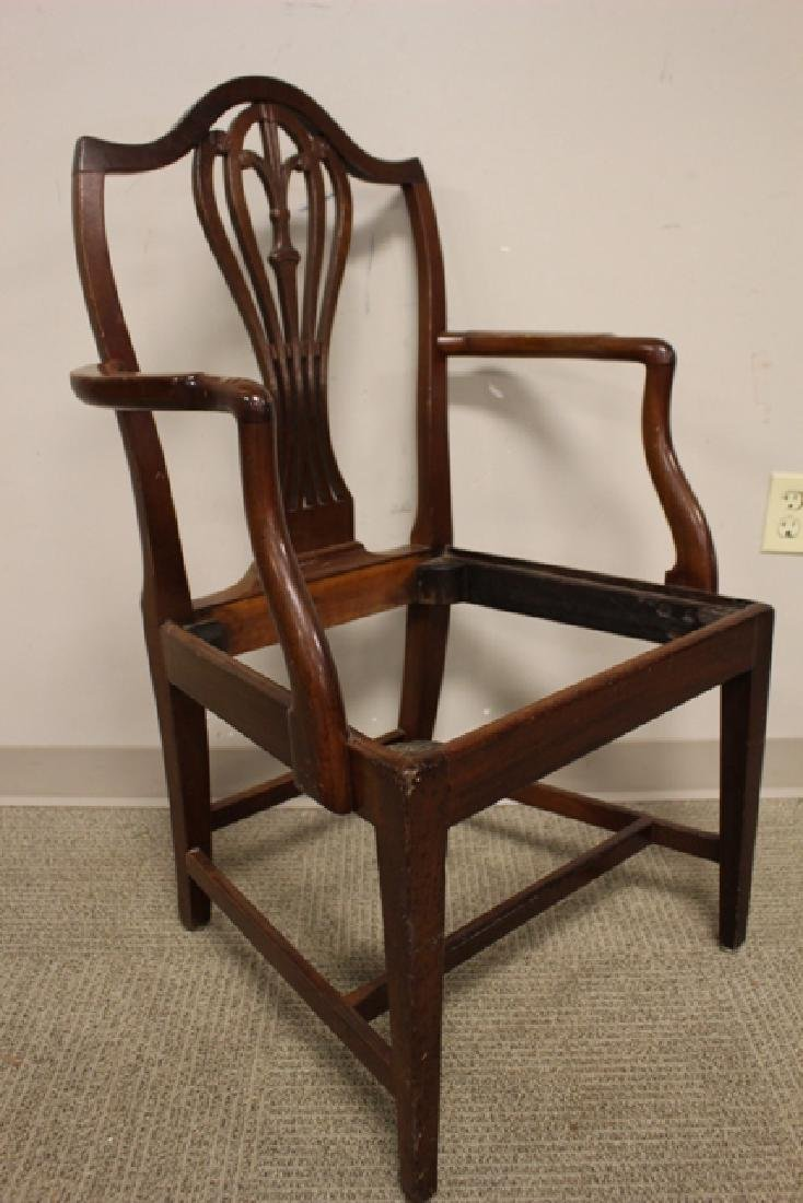 Early 19th Century Shield Back Arm Chair - 4