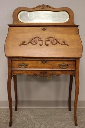 ca. 1910 Ladies Oak Slant Front Desk