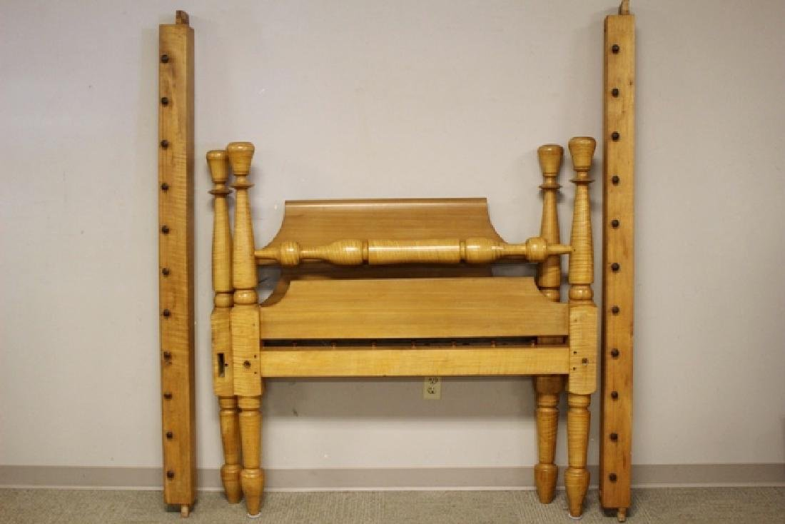 Early 19th Century Tiger Maple Rope Bed