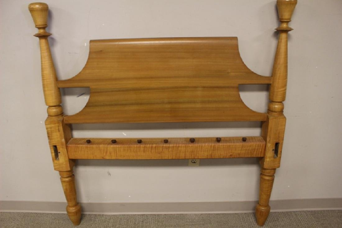 Early 19th Century Tiger Maple Rope Bed - 5