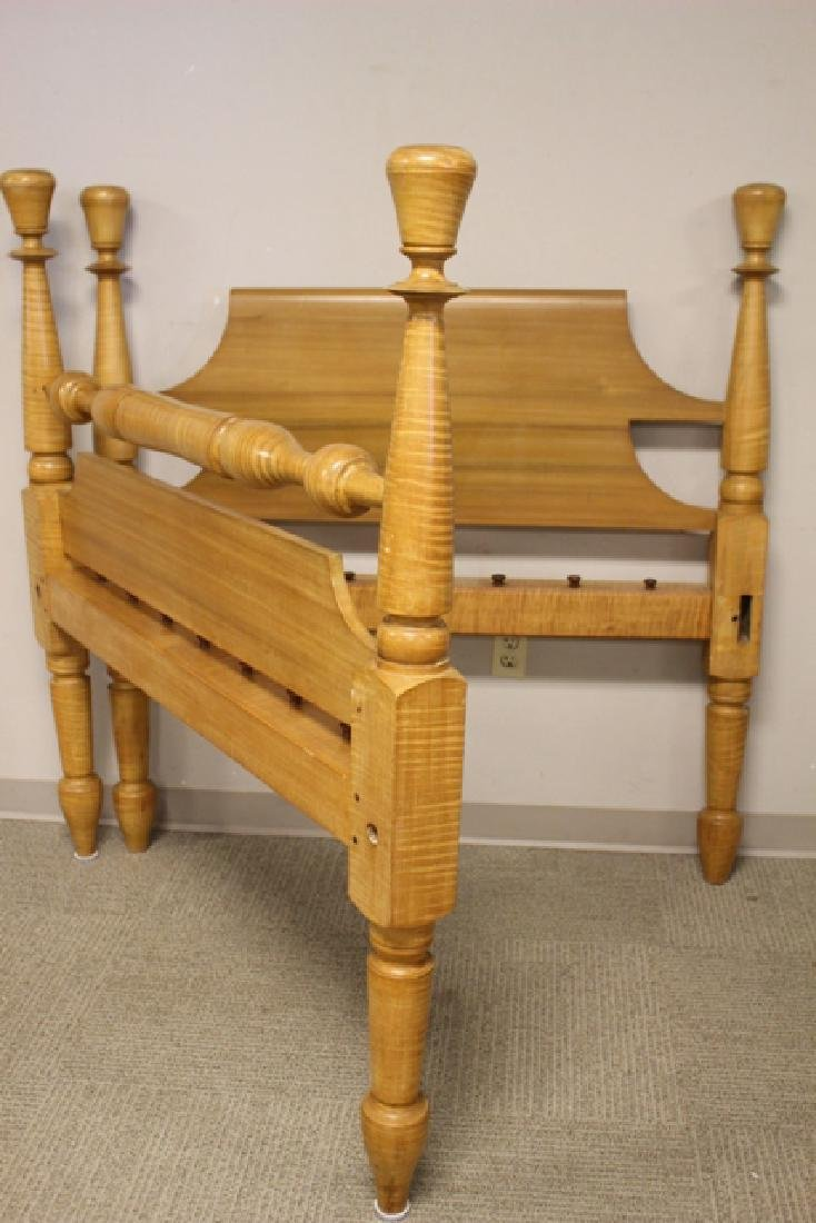 Early 19th Century Tiger Maple Rope Bed - 6