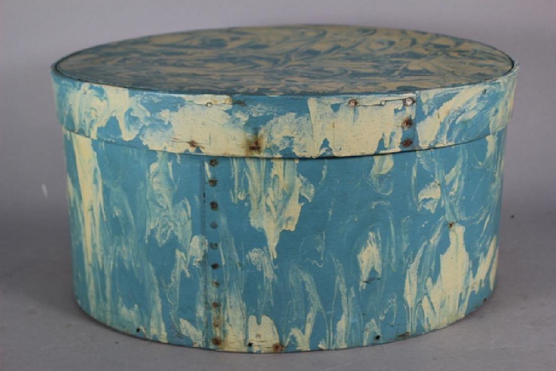 ca. 1850 Over Painted Bandbox