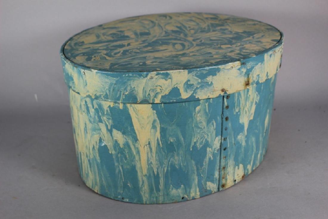 ca. 1850 Over Painted Bandbox - 2