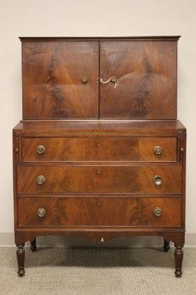 Federal Mahogany Desk, New England, c. 1820
