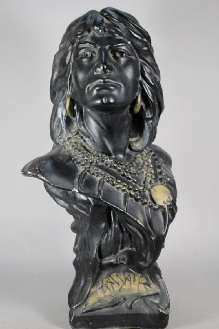 Vintage Cigar-Store Indian Statue of HIAWATHA
