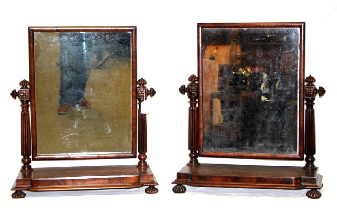 Pair of ca. 1800 Regency Mahogany Mirrors