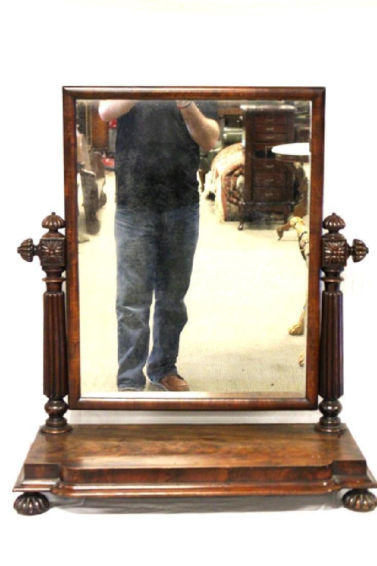 Pair of ca. 1800 Regency Mahogany Mirrors - 2