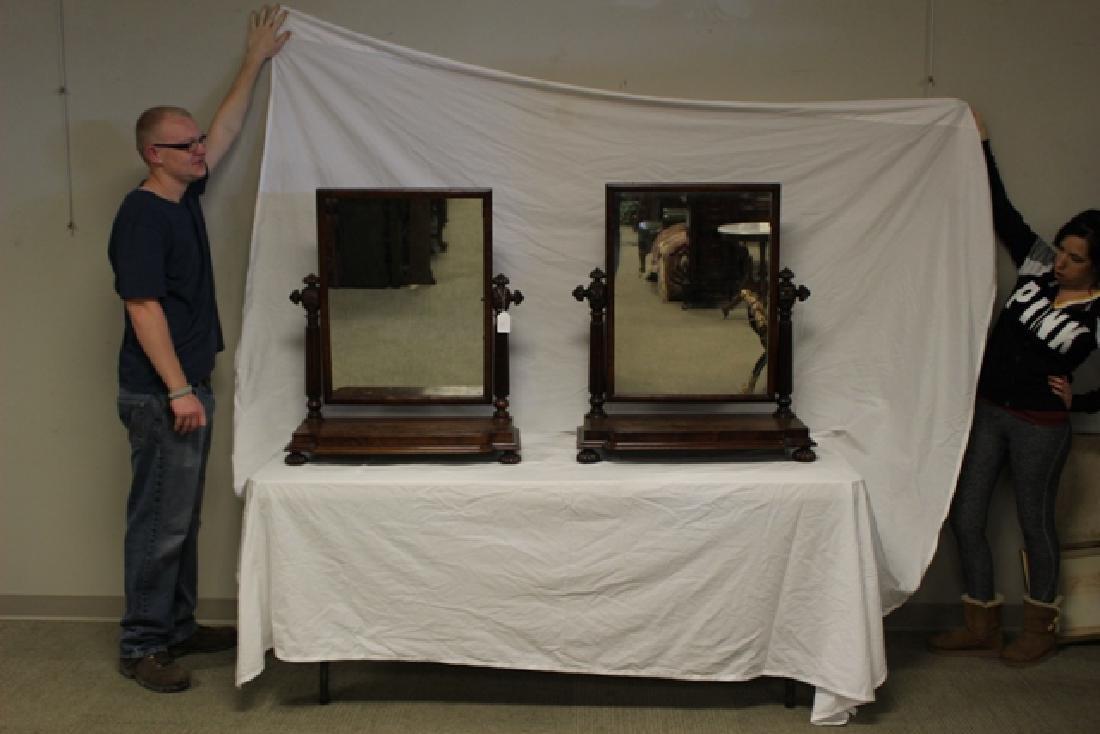 Pair of ca. 1800 Regency Mahogany Mirrors - 3