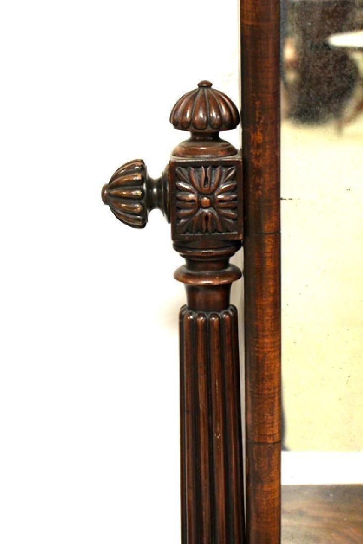 Pair of ca. 1800 Regency Mahogany Mirrors - 4