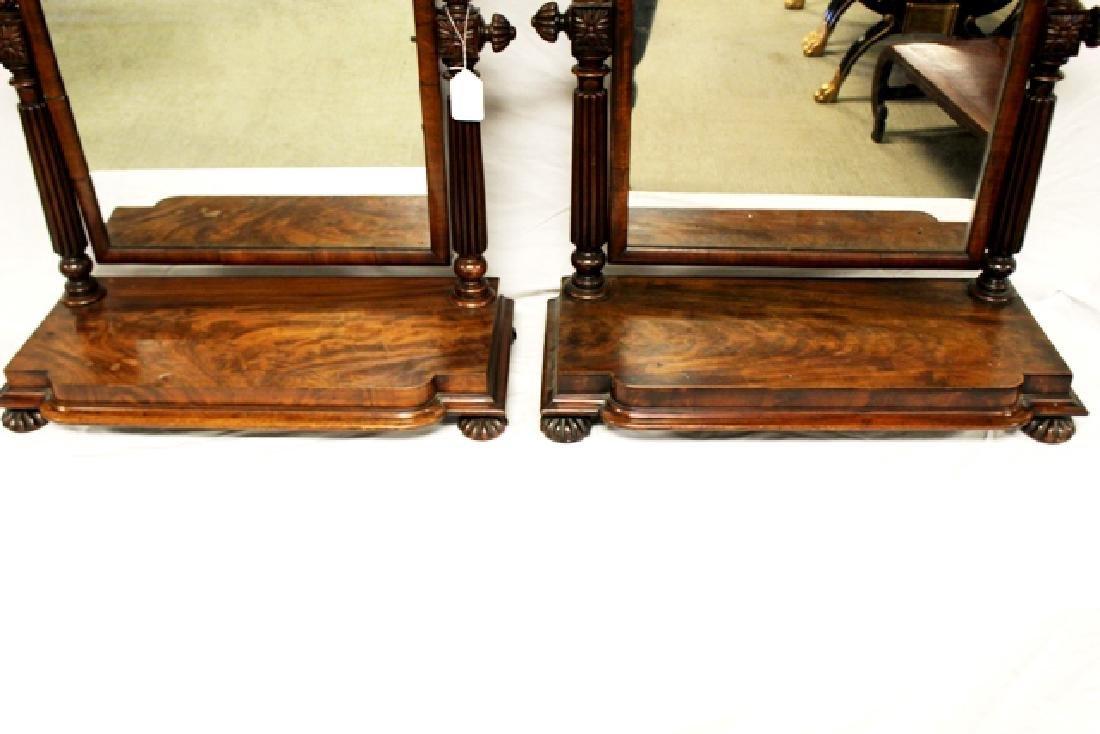 Pair of ca. 1800 Regency Mahogany Mirrors - 5