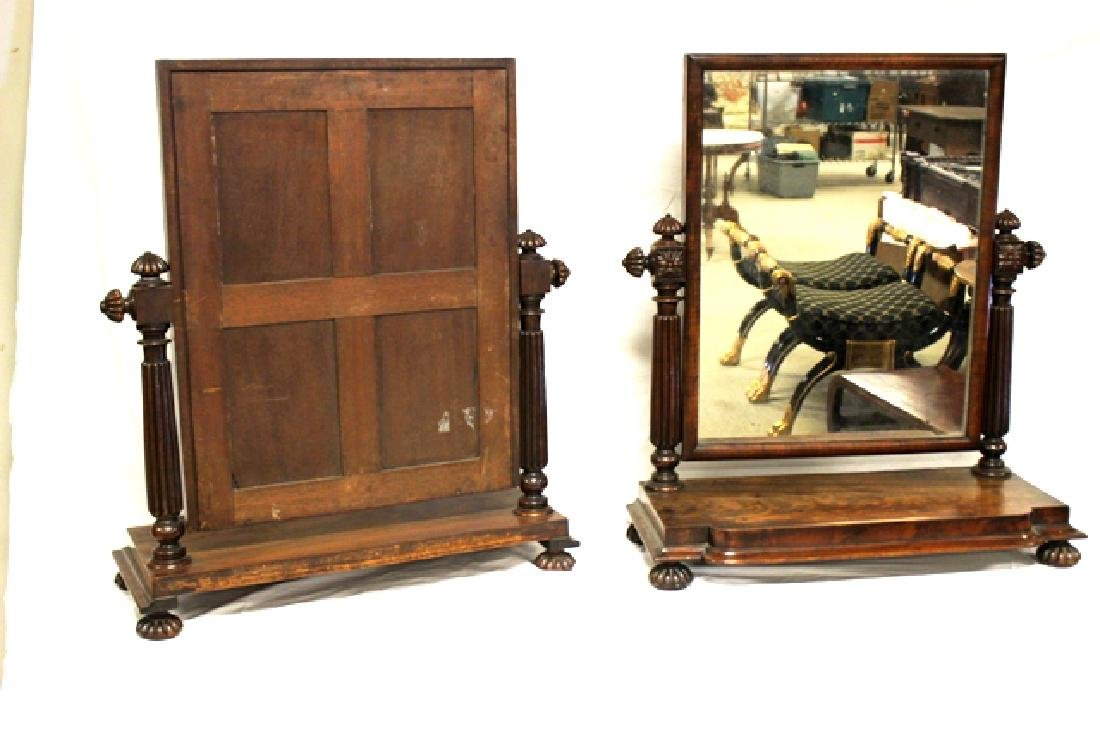 Pair of ca. 1800 Regency Mahogany Mirrors - 8