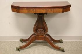 Period Mahogany Duncan Phyfe Game Table