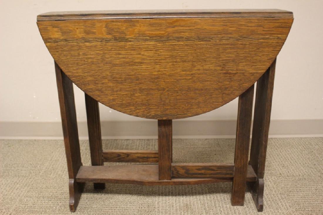 Mission Oak Drop Side Tuc-away Table