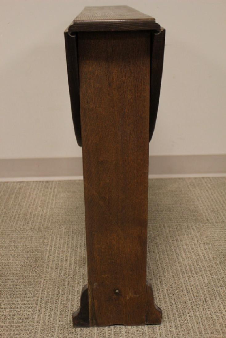 Mission Oak Drop Side Tuc-away Table - 2