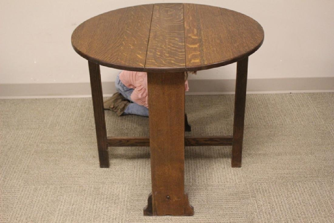 Mission Oak Drop Side Tuc-away Table - 3