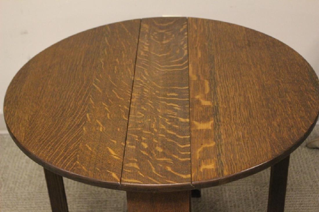 Mission Oak Drop Side Tuc-away Table - 4