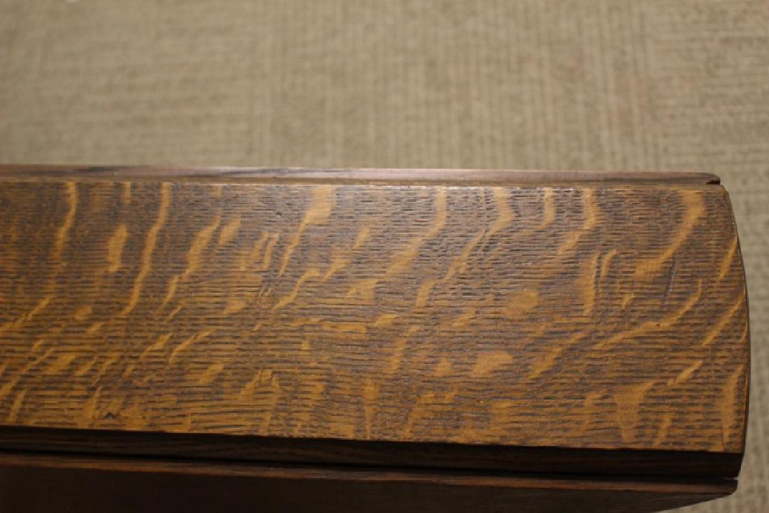 Mission Oak Drop Side Tuc-away Table - 5