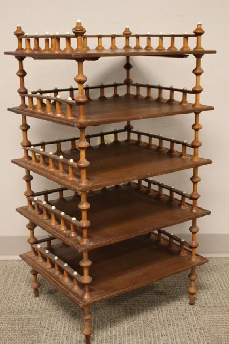 Five Shelf Folk Art Stand