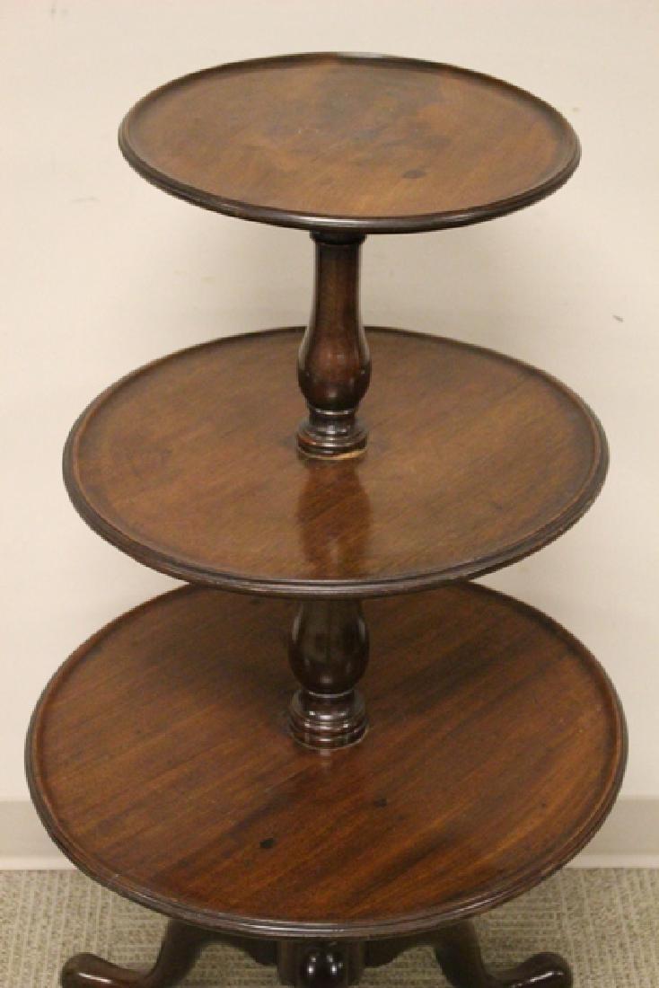 19th Century Mahogany Three Tier Dumbweighter Table - 4