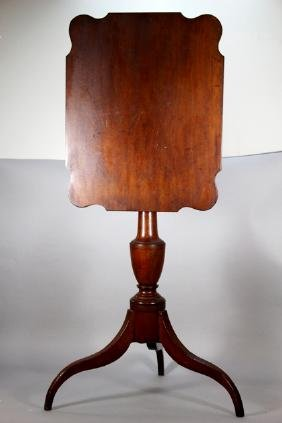 19th Century Cherry Candle Stand on Tripod Base