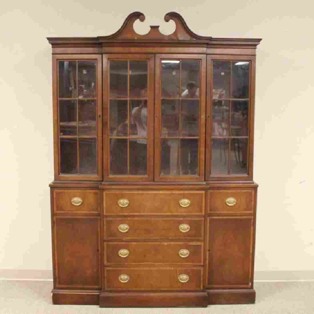Mahogany Banded Johnson Furniture Co. Breakfront