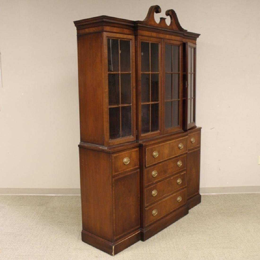 Mahogany Banded Johnson Furniture Co. Breakfront - 3