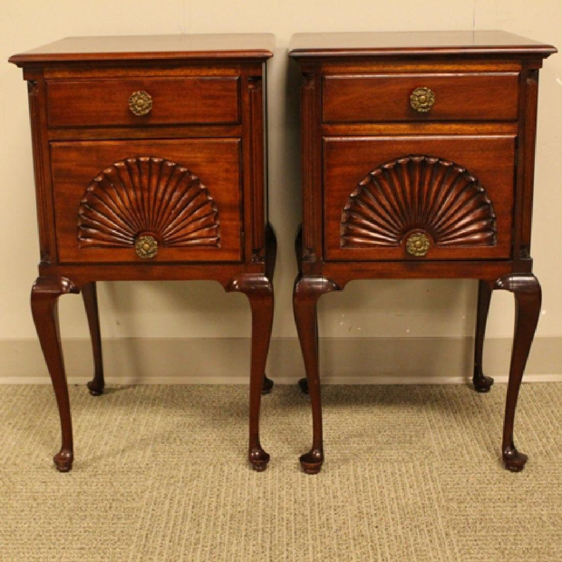 ca. 1940's Queen Anne Mahogany Night Stands