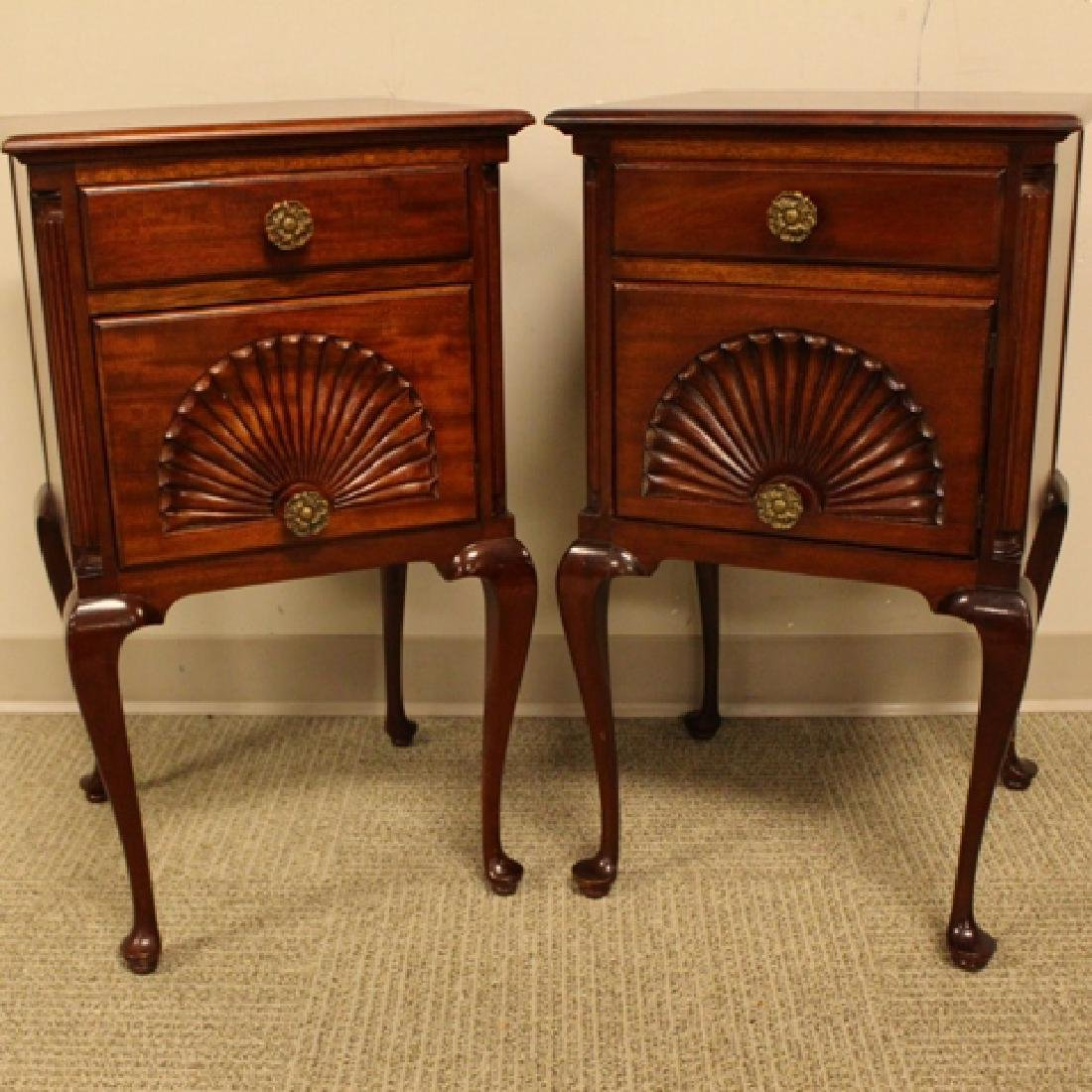 ca. 1940's Queen Anne Mahogany Night Stands - 2