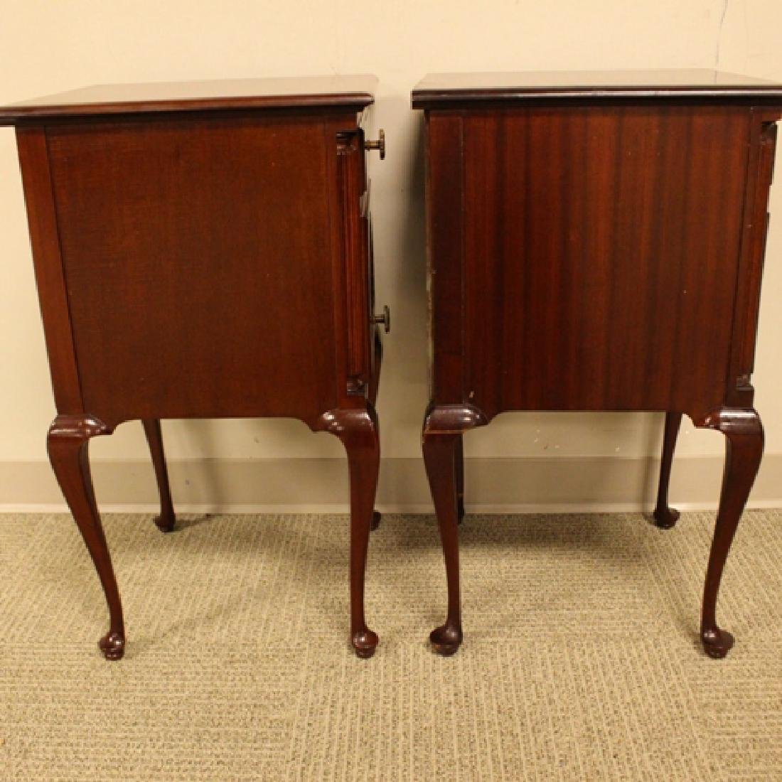 ca. 1940's Queen Anne Mahogany Night Stands - 3