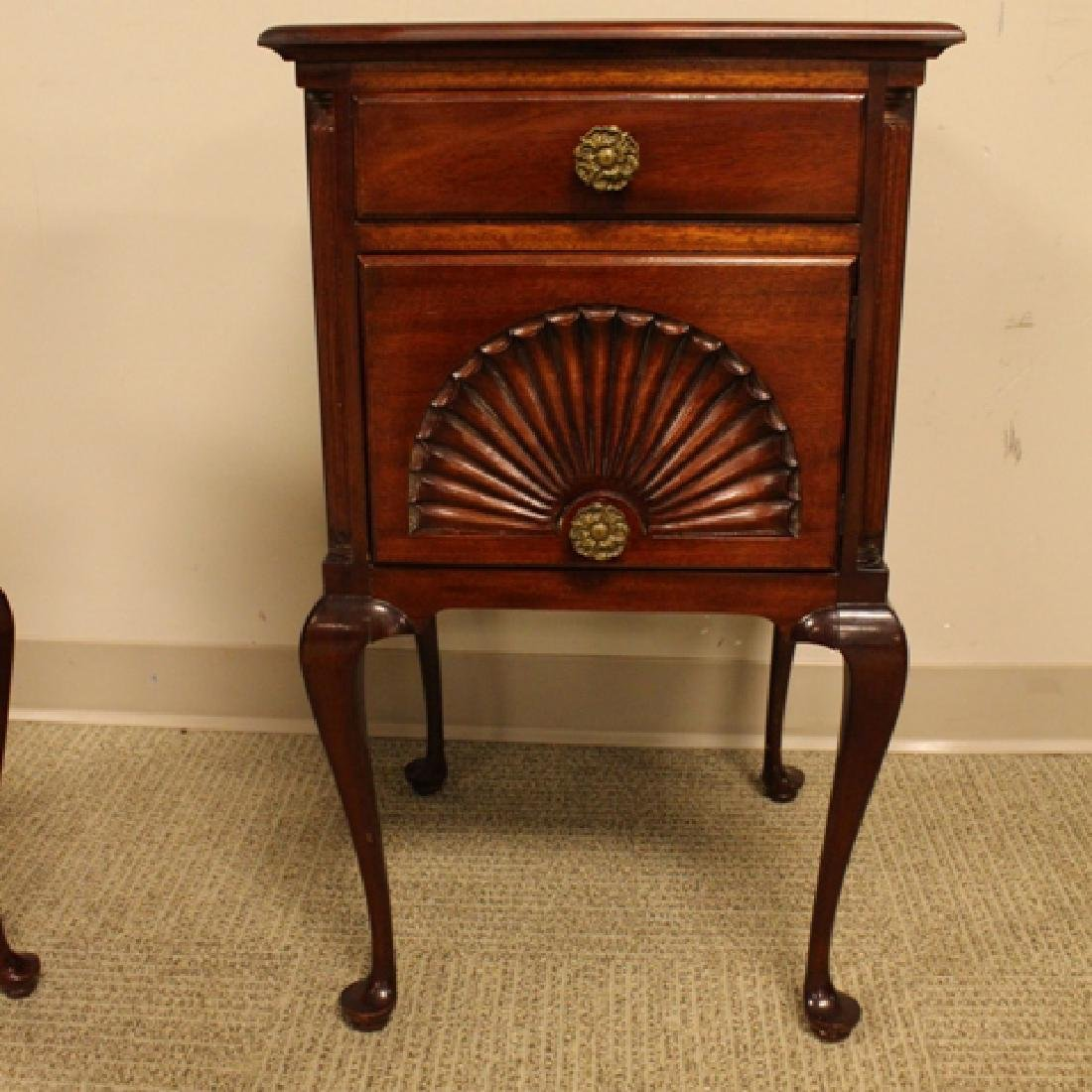 ca. 1940's Queen Anne Mahogany Night Stands - 6