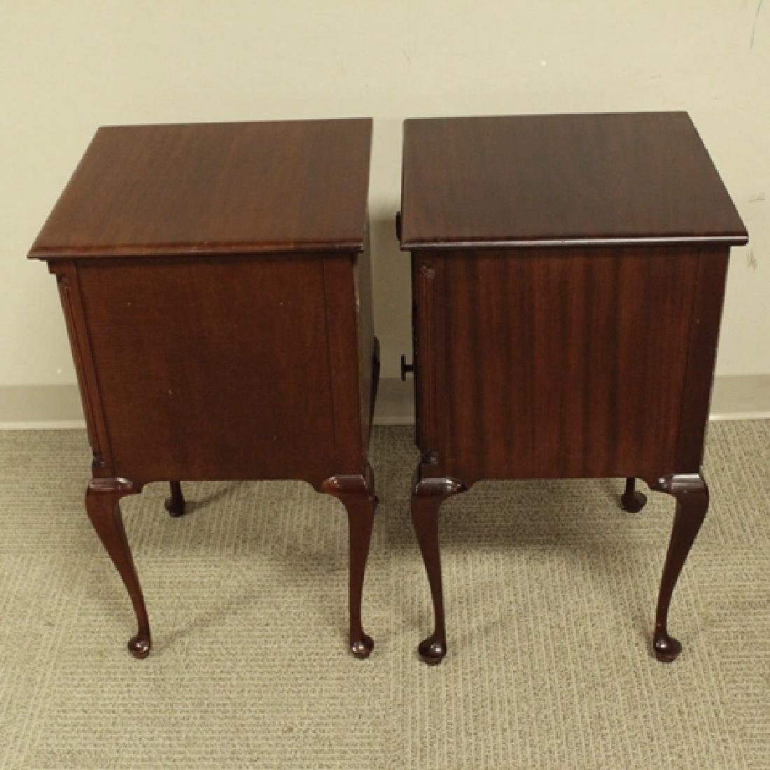 ca. 1940's Queen Anne Mahogany Night Stands - 8
