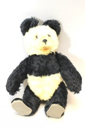 ca. 1950's Mohair Panda Bear Toy