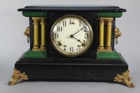Ebonized Welch Mantel Clock