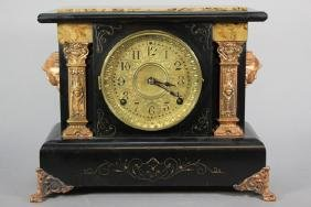 19th Century Seth Thomas Adamantine Mantle Clock