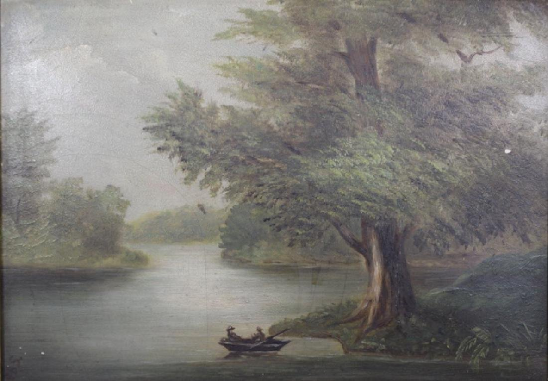 19th Century Barbizon Style Oil on Board Landscape - 2