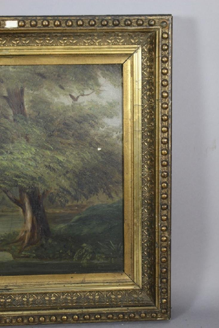 19th Century Barbizon Style Oil on Board Landscape - 4