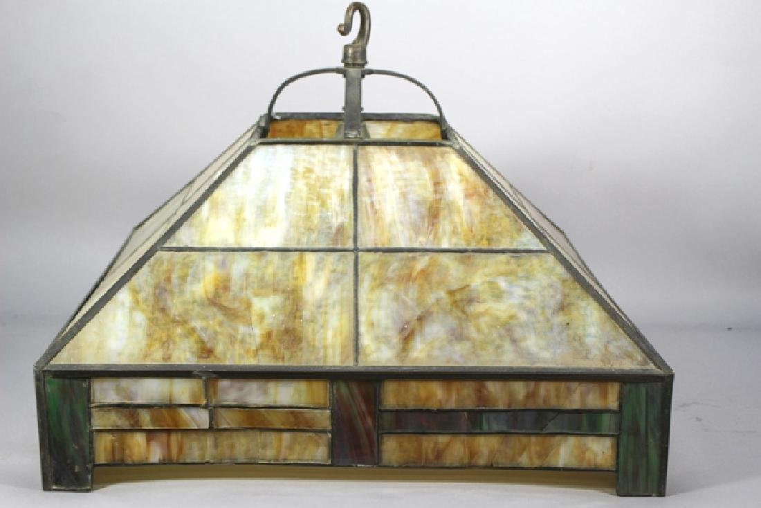 Arts & Crafts Slag Glass Shade