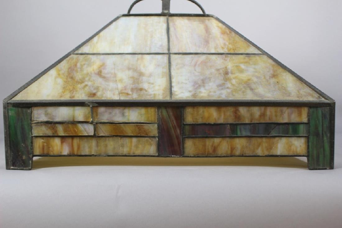 Arts & Crafts Slag Glass Shade - 3