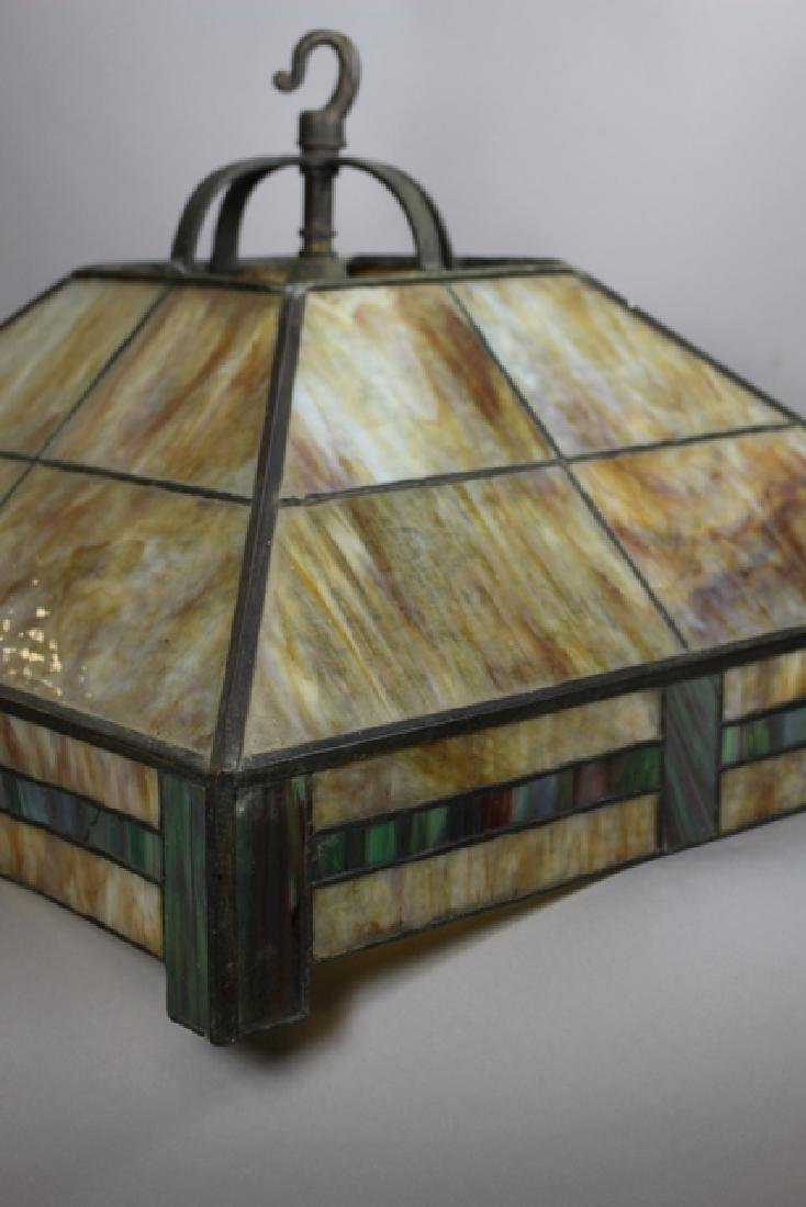 Arts & Crafts Slag Glass Shade - 5