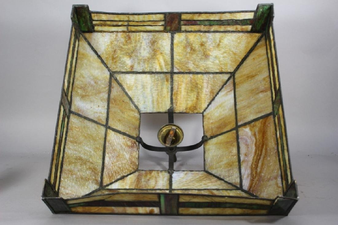 Arts & Crafts Slag Glass Shade - 6