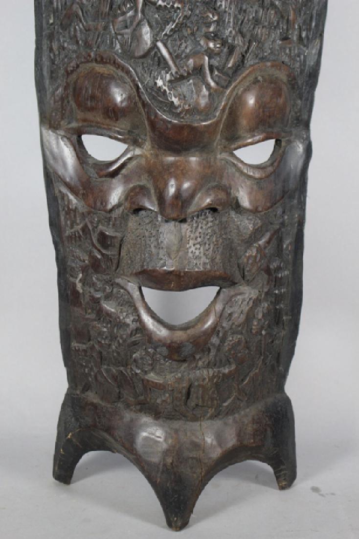 Vintage African Carved Wood Floor Mask - 2