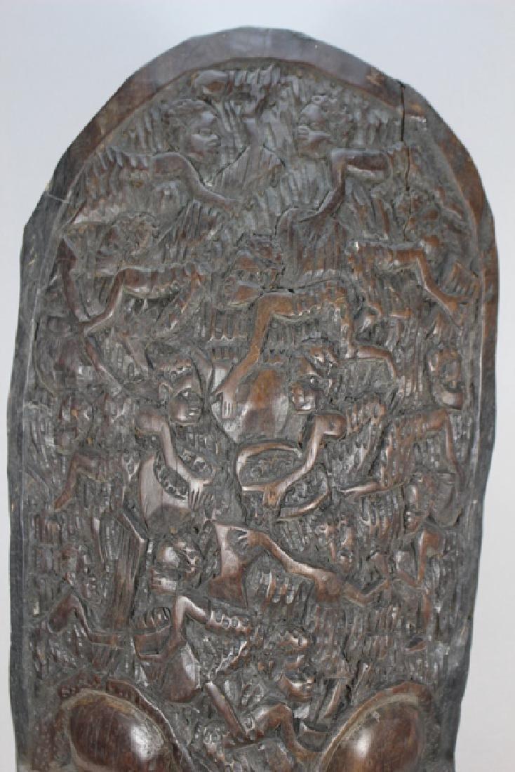 Vintage African Carved Wood Floor Mask - 3
