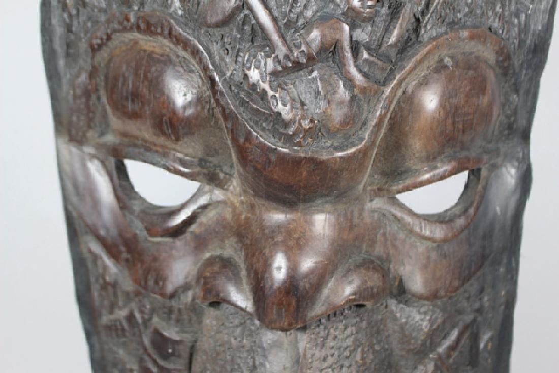 Vintage African Carved Wood Floor Mask - 5