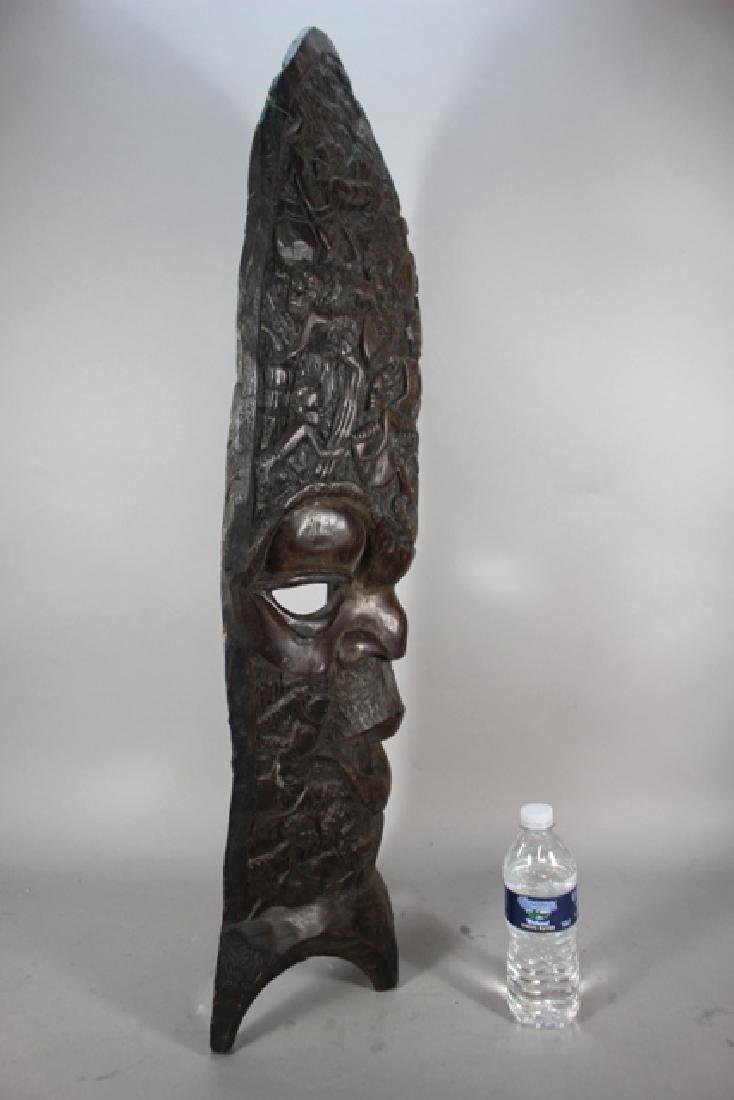 Vintage African Carved Wood Floor Mask - 6