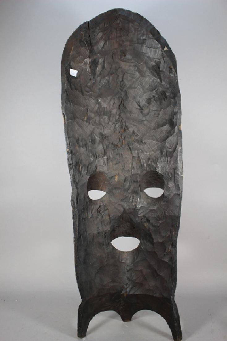 Vintage African Carved Wood Floor Mask - 8