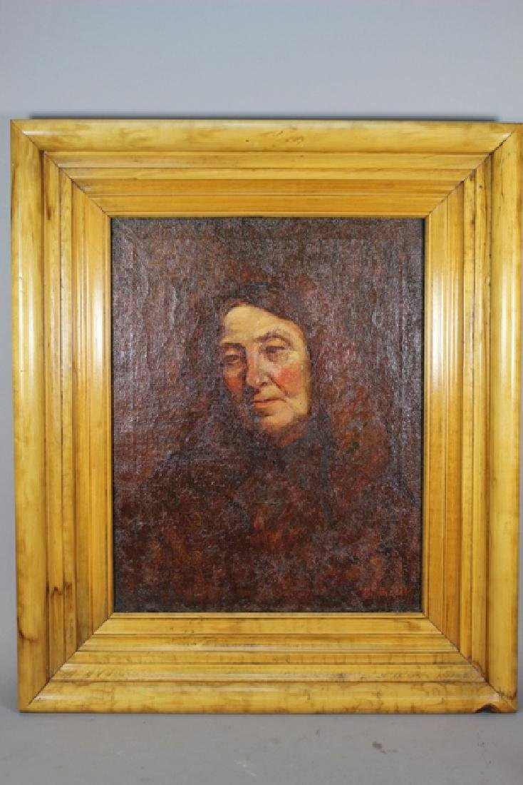 19th Century Early American Portrait on Canvas