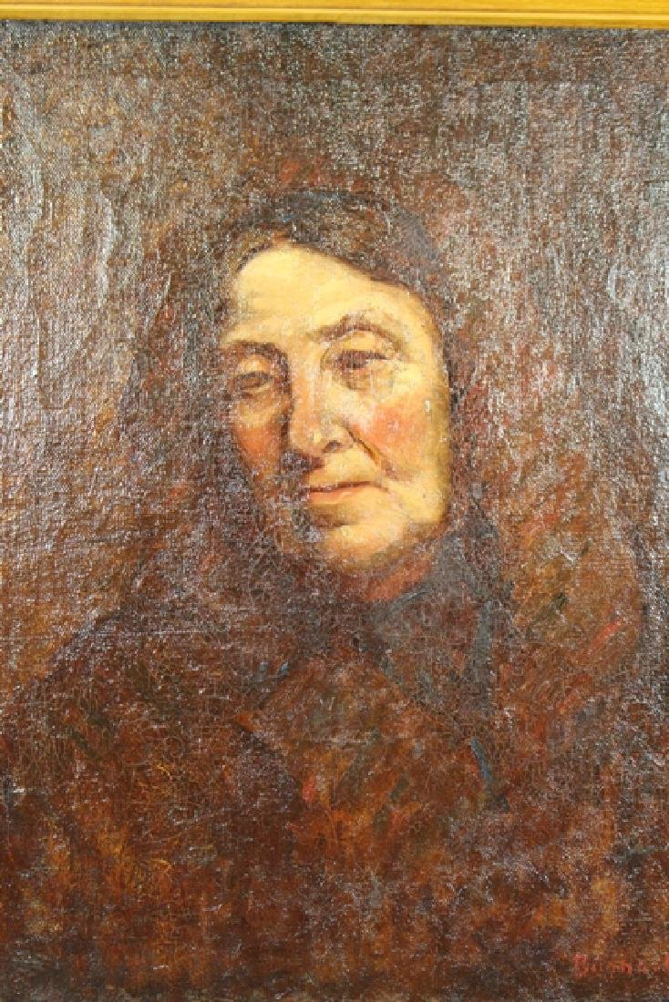 19th Century Early American Portrait on Canvas - 2
